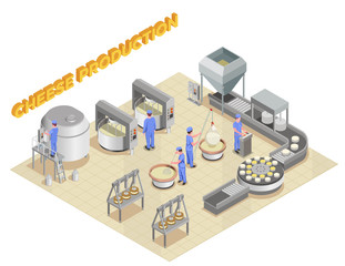 Cheese Production Isometric Composition