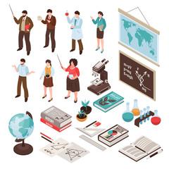 Teachers And School Set