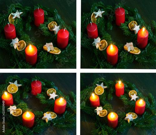 advent weihnachten adventskranz 1 4 advent. Black Bedroom Furniture Sets. Home Design Ideas
