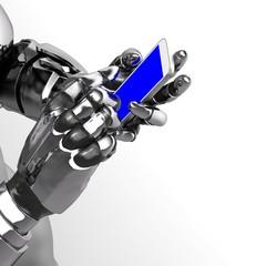 ロボット アンドロイド 手 スマートフォン Robot Android Hand mobile phone smart phone