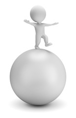 3d small people - balances on the ball