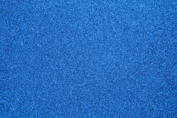 The texture of the carpet is blue.Background of blue carpet.