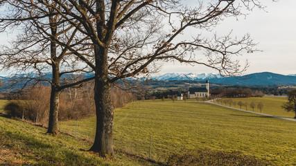 Beautiful view near Irschenberg-Bavaria-Germany