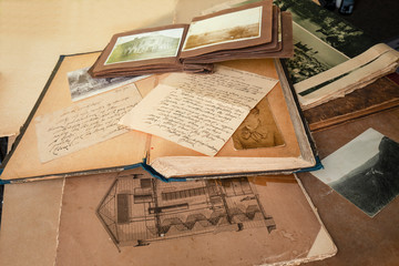 Old books,letters and photos.