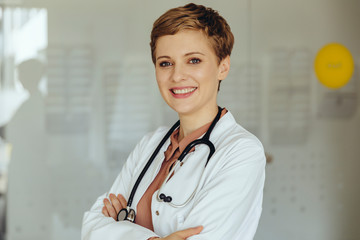 Portrait of a confident female doctor