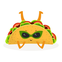 cartoon cute taco