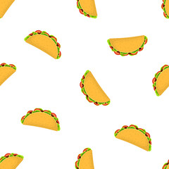 pattern with cartoon tacos