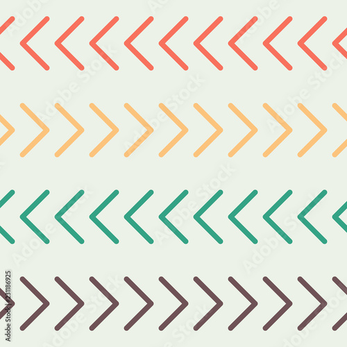 Arrows pointing right and left  Simple seamless geometric