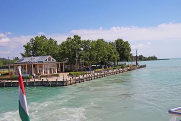 Balaton Hungary European big lake Tihany city view 2018 summer travel tourism photos