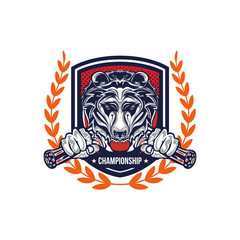 Grizzly badge
