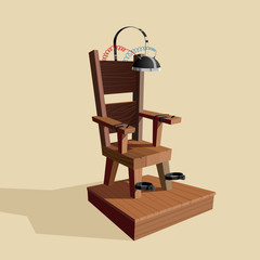 Wooden Electric chair