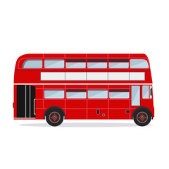 Vector. London buses colored silhouette
