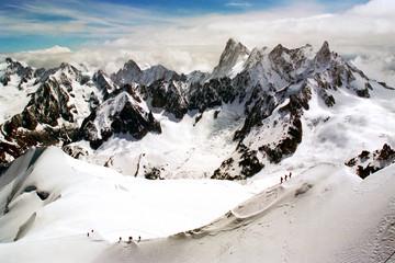 Chamonix Aiguille du Midi Mont Blanc Massif French Alps France Europe