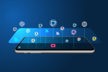 5G gsm technology digital concept
