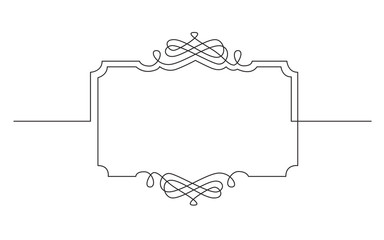 continuous line drawing of vignette devider frame design