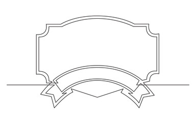 continuous line drawing of ribbon geometrical frame design