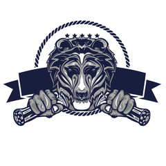 Illustration design of Grizzly Badge