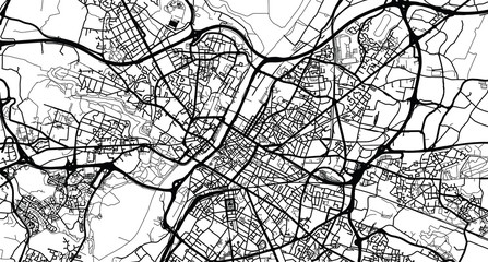 Urban vector city map of Angers, France