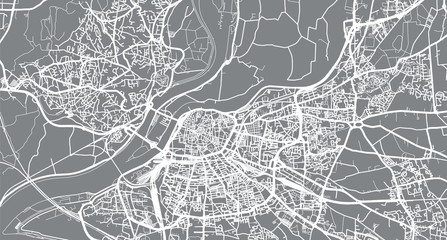 Urban vector city map of Avignon, France