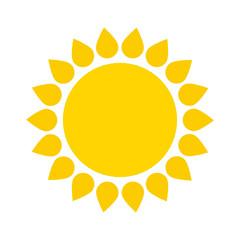 Sun icon. Vector illustration. EPS 10.