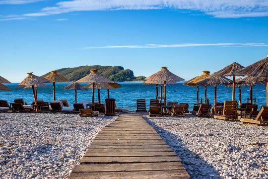 Budva beach in Montenegro