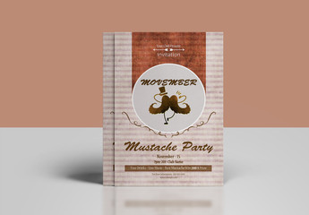 Textured Flyer Layout with Mustache Theme