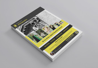 Black and Yellow Flyer Layout