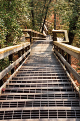 Elevated Wooden Walkway at Tallulah Gorge State Park Georgia USA