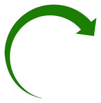 Rotate forward icon on a white background. Isolated rotate forward symbol with flat style.
