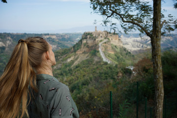 Civita di Bagnoregio city on a cliff in Italy
