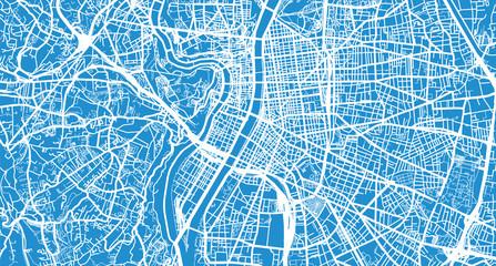 Urban vector city map of Lyon, France Wall mural