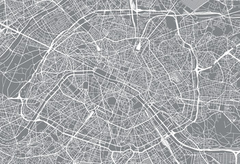 Urban vector city map of Paris, France Fototapete