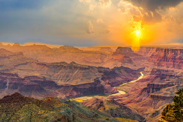 Sunrise at the Grand Canyon seen from Desert View Point