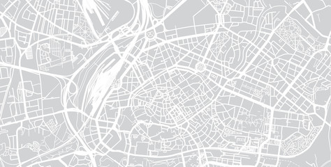 Urban vector city map of Strasbourg, France