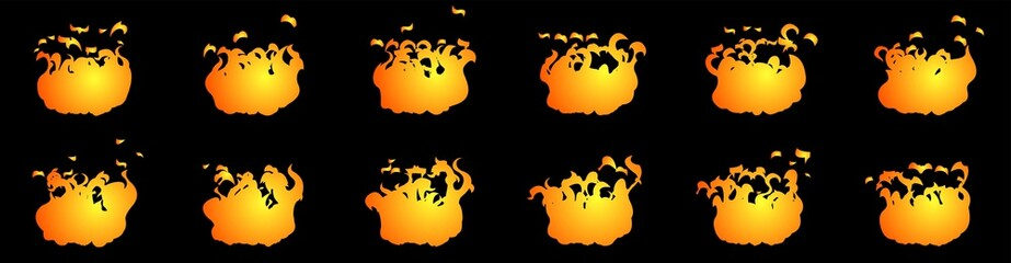 Fire animation sprite sheet, can be used for GIF animation