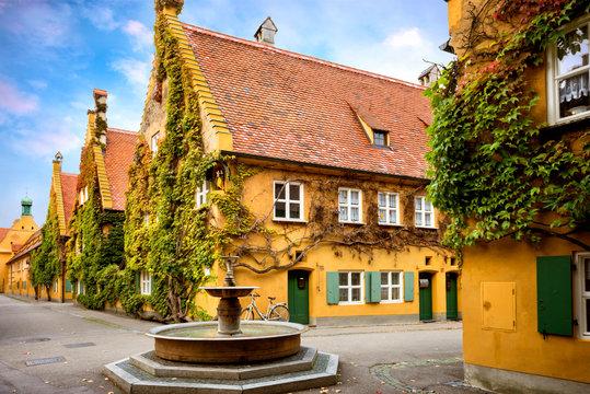 Augsburg: Fuggerei - the world oldest social housing. Bavaria, Germany