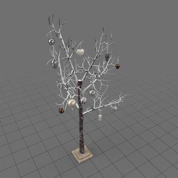 Decorative christmas tree without needles