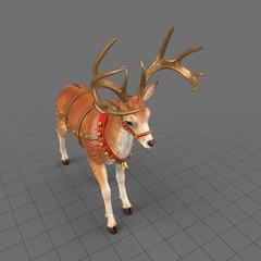 Reindeer statue standing 5