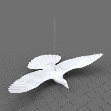Turtle dove ornament 1
