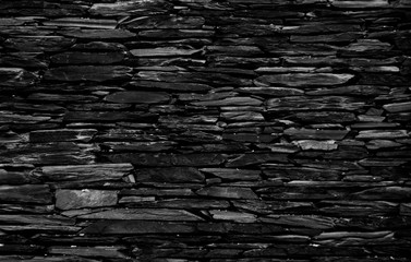 Background texture of dark stone wall.