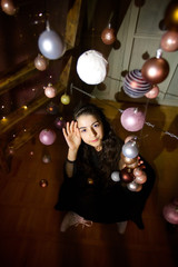 Girl in a Cristmas room