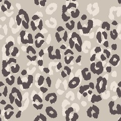 Leopard skin. Seamless pattern with imitation of leopard skin