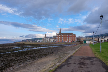 Looking Over to Sandringhame Terrace and Along the largs Seafront
