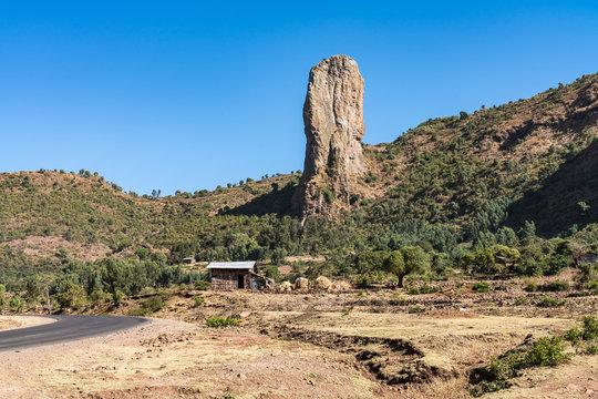 Äthiopien - bei Addis Zemen auf der Fahrt von Bahir Dar nach Gondar