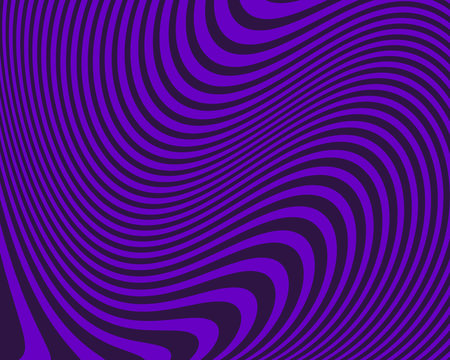 Abstract pattern. Texture with wavy, curves lines. Optical art background. Vector illustration
