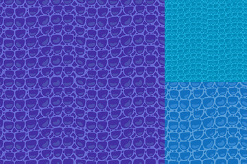 Vector Fashion texture blue purple trandy Leather background. Set seamless pattern. Merry Christmas and New Year luxurious holiday design card.