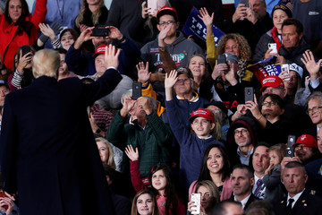 U.S. President Donald Trump holds campaign rally in Huntington, West Virginia