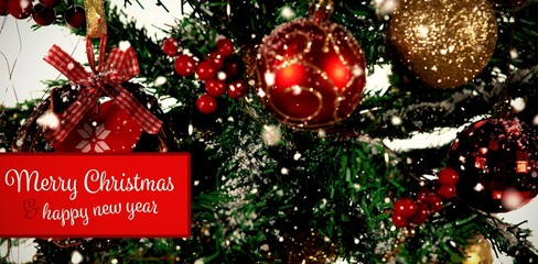 Composite image of banner merry christmas