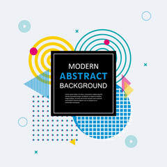 Modern abstract geometric pattern design and background. Use for modern design, cover, poster, template, brochure, decorated and flyer.