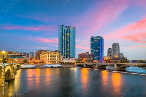 Fototapete Grand Rapids, Michigan, USA Downtown Skyline